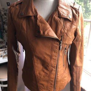 Vintage Motorcycle Jacket Cheetah Print Lining S-L